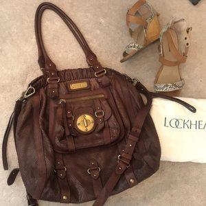 aae26776af Lockheart Brown Leather shoulder bag with dust bag